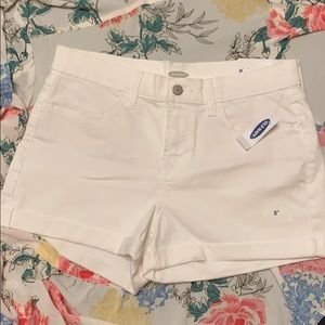 NWT Old Navy White Denim Cuff Shorts